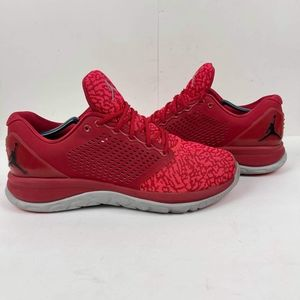 Nike Men's Air Jordan Trainer ST Running Shoes Size 12 Red Athletic Sneakers